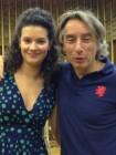 Il Maestro Paolo vivaldi con la traduttrice Catherina