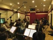 Il M° Nicola Tescari dirige gli archi della Roma film Orchestra 4