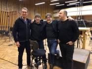 L'equipe al Soundtrust Studio - Praga
