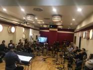 Il Direttore Francesco Marchetti con i Brass della Roma film Orchestra 3
