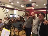 I Maestri Giuliano Taviani e Carmelo Travia con il Direttore Emanuele Bossi