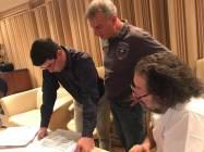 Il Direttore Marek Stilek con Il Maestro Savio Riccardi e Mario Marcucci
