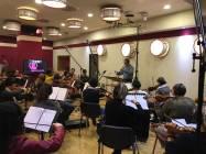 Il direttore Alessandro Molinari dirige la Roma Film Orchestra 1