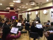 Il direttore Alessandro Molinari dirige la Roma Film Orchestra 2