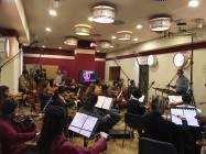 Il direttore Alessandro Molinari dirige la Roma Film Orchestra 3